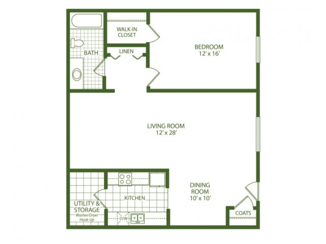 1 Bedroom 1 Bathroom Apartment for rent at Park Place Apartments in Taylor, MI