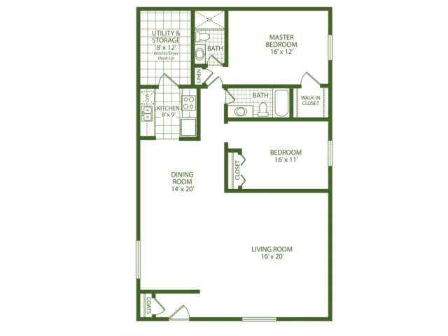2 Bedrooms 1 Bathroom Apartment for rent at Park Place Apartments in Taylor, MI