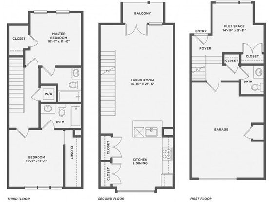 2 Bedrooms 3 Bathrooms Apartment for rent at The Coe At West Village in Detroit, MI