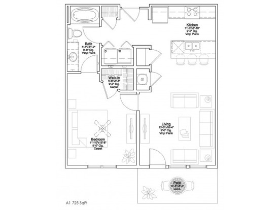 1 Bedroom 1 Bathroom Apartment for rent at Summit Square in Lees Summit, MO