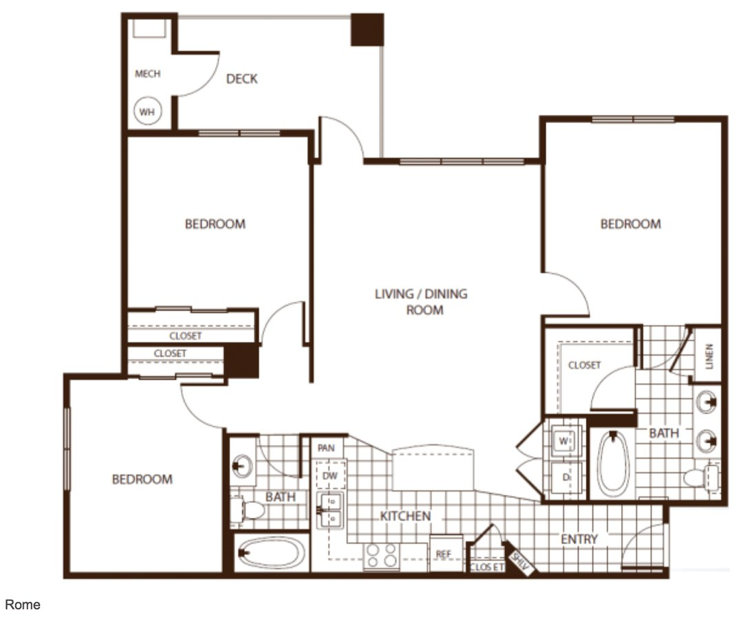 3 Bedrooms 2 Bathrooms Apartment for rent at Andante Apartments in Denver, CO