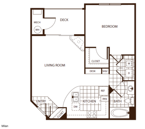 1 Bedroom 1 Bathroom Apartment for rent at Andante Apartments in Denver, CO
