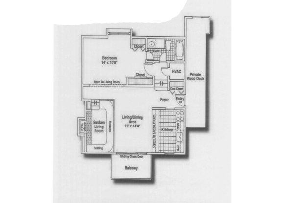 1 Bedroom 1 Bathroom Apartment for rent at Timber Point in Indianapolis, IN