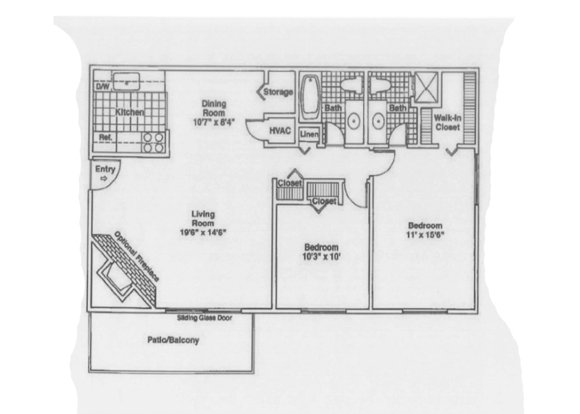 2 Bedrooms 2 Bathrooms Apartment for rent at Timber Point in Indianapolis, IN