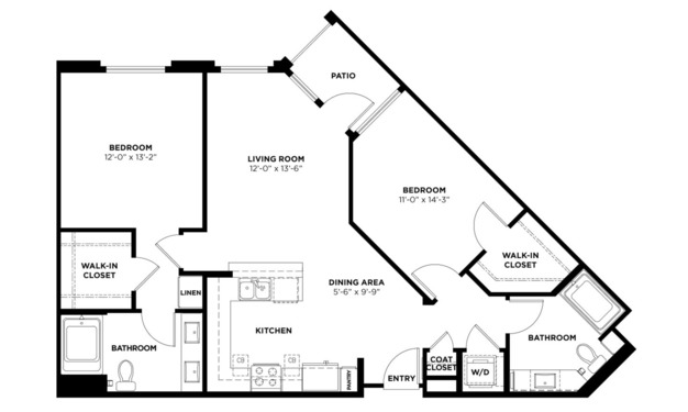 2 Bedrooms 2 Bathrooms Apartment for rent at Turing in Milpitas, CA