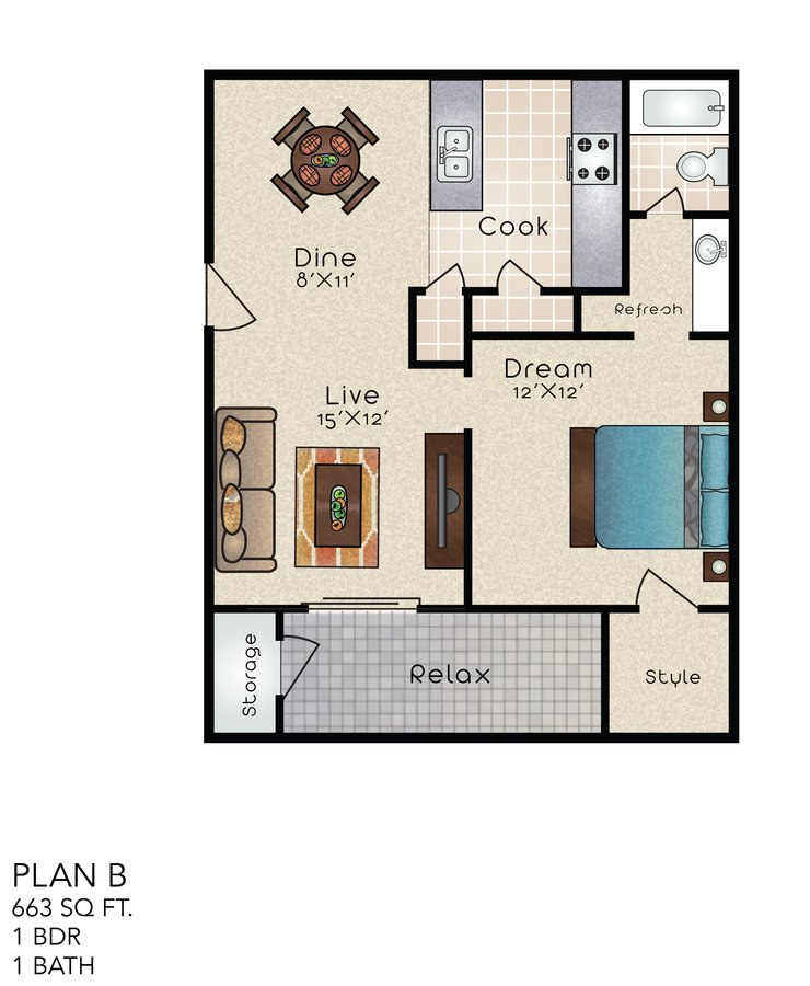 Distinction Apartments San Antonio TX Interesting 1 Bedroom Apartments San Antonio Tx Style Plans