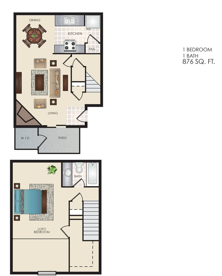 1 Bedroom 1 Bathroom Apartment for rent at Tivona in San Antonio, TX