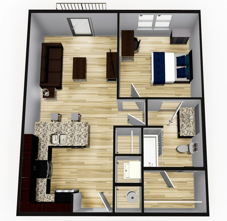 1 Bedroom 1 Bathroom Apartment for rent at Ethos in Bloomington, IN