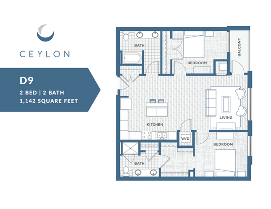 2 Bedrooms 2 Bathrooms Apartment for rent at Ceylon in Clayton, MO