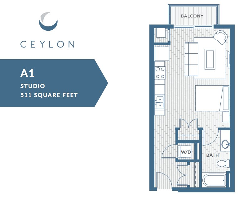 Studio 1 Bathroom Apartment for rent at Ceylon in Clayton, MO