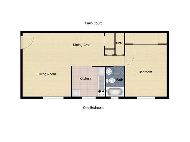 1 Bedroom 1 Bathroom Apartment for rent at Crain Court in Glen Burnie, MD