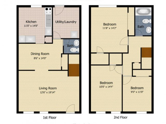 3 Bedrooms 1 Bathroom Apartment for rent at Applegate & Potomac Commons Apartments & Townhomes in Frederick, MD