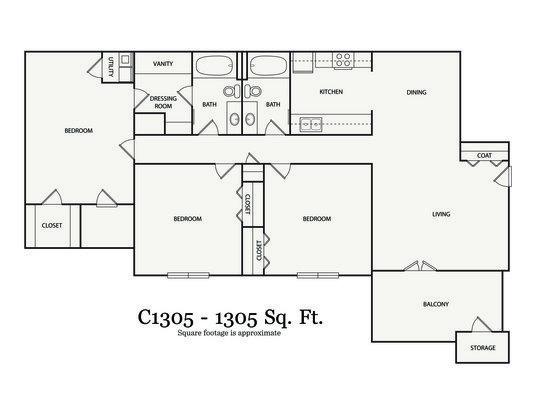 3 Bedrooms 2 Bathrooms Apartment for rent at Walton On The Chattahoochee in Atlanta, GA