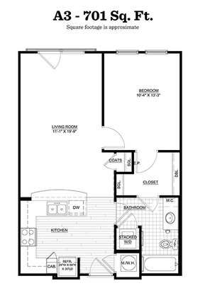 1 Bedroom 1 Bathroom Apartment for rent at Walton Riverwood in Atlanta, GA