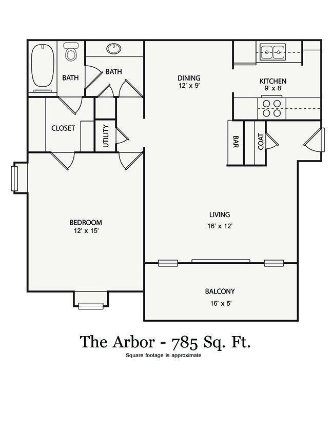 1 Bedroom 1 Bathroom Apartment for rent at Walton River in Atlanta, GA