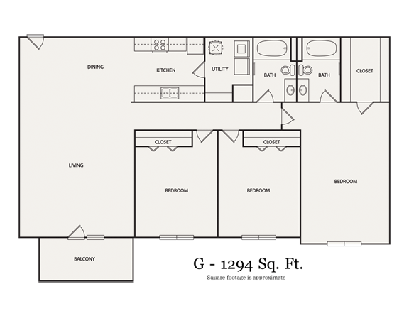 3 Bedrooms 2 Bathrooms Apartment for rent at Walton Grove in Smyrna, GA