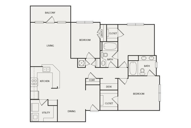 3 Bedrooms 2 Bathrooms Apartment for rent at Walton Vinings in Smyrna, GA