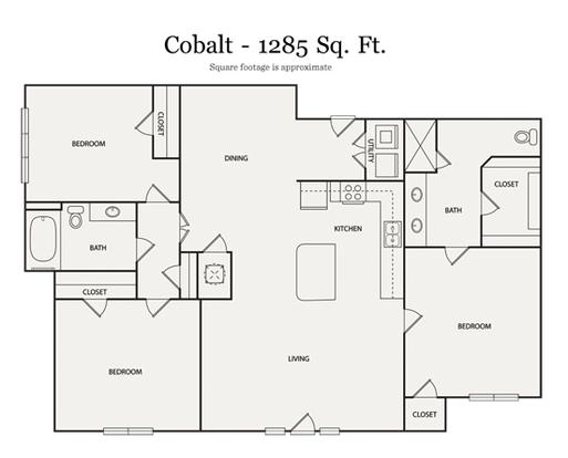 3 Bedrooms 2 Bathrooms Apartment for rent at Walton Ashwood in Atlanta, GA