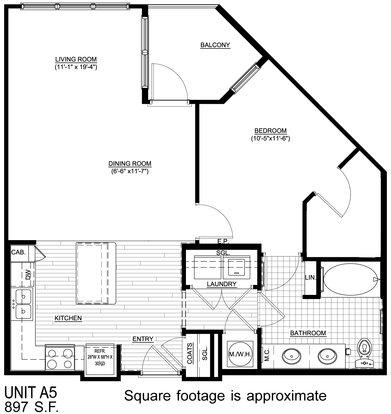 1 Bedroom 1 Bathroom Apartment for rent at Walton Westside in Atlanta, GA
