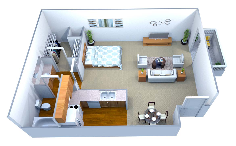 Studio 1 Bathroom Apartment for rent at Walton On The Chattahoochee in Atlanta, GA