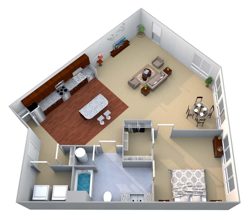 1 Bedroom 1 Bathroom Apartment for rent at Walton Riverwood in Atlanta, GA