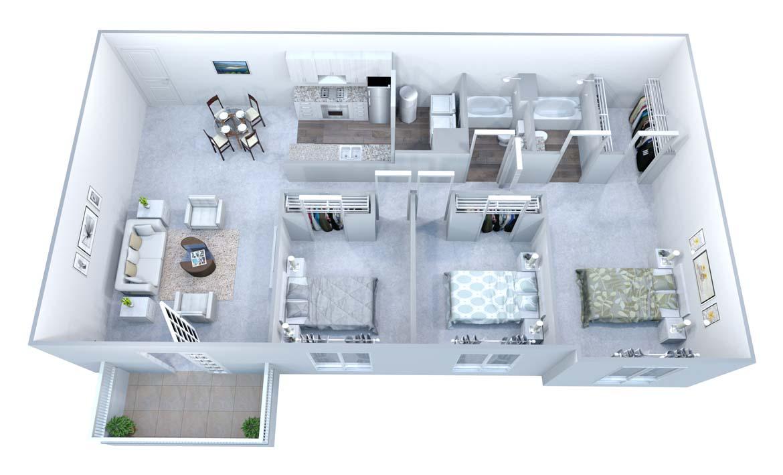 3 Bedrooms 2 Bathrooms Apartment for rent at Walton Grove in Smyrna, GA