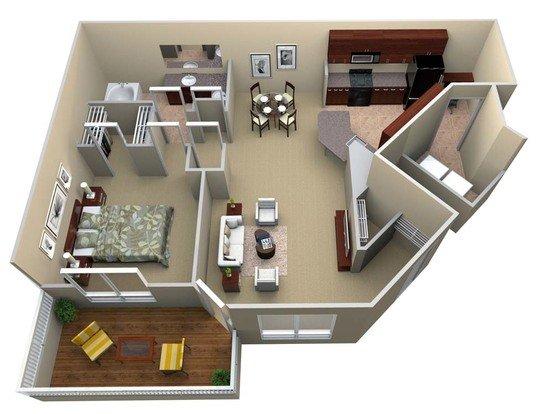 1 Bedroom 1 Bathroom Apartment for rent at Walton Lakes in Atlanta, GA