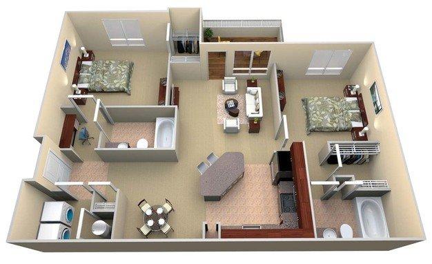 2 Bedrooms 2 Bathrooms Apartment for rent at Walton Lakes in Atlanta, GA