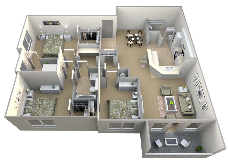 3 Bedrooms 2 Bathrooms Apartment for rent at Walton Vinings in Smyrna, GA