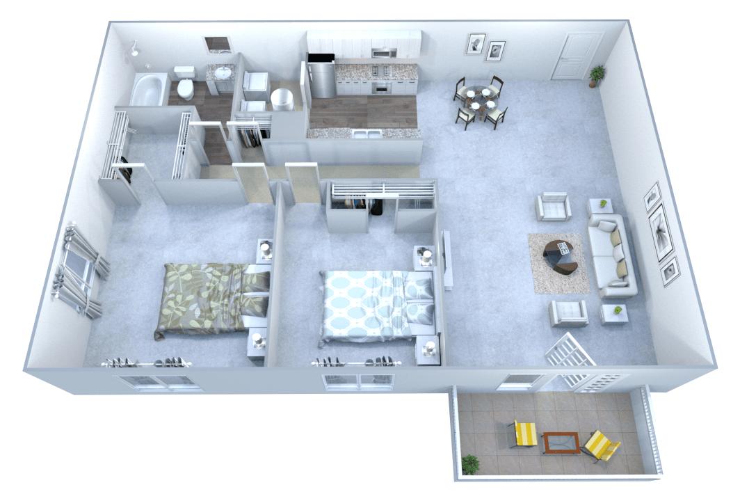 2 Bedrooms 1 Bathroom Apartment for rent at Walton Grove in Smyrna, GA