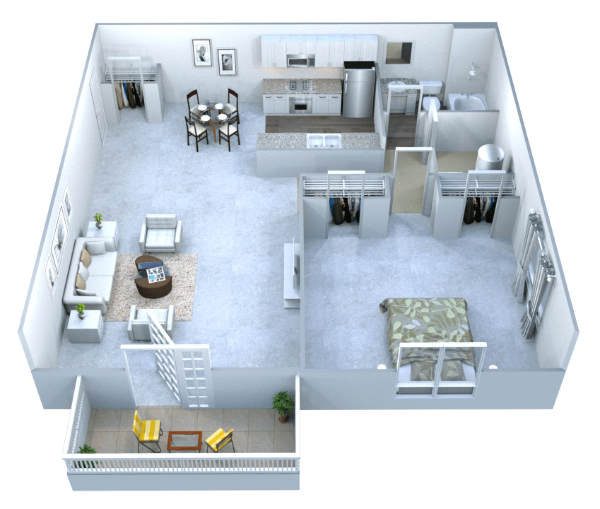 1 Bedroom 1 Bathroom Apartment for rent at Walton Grove in Smyrna, GA