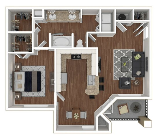 1 Bedroom 1 Bathroom Apartment for rent at City West Apartments in Houston, TX
