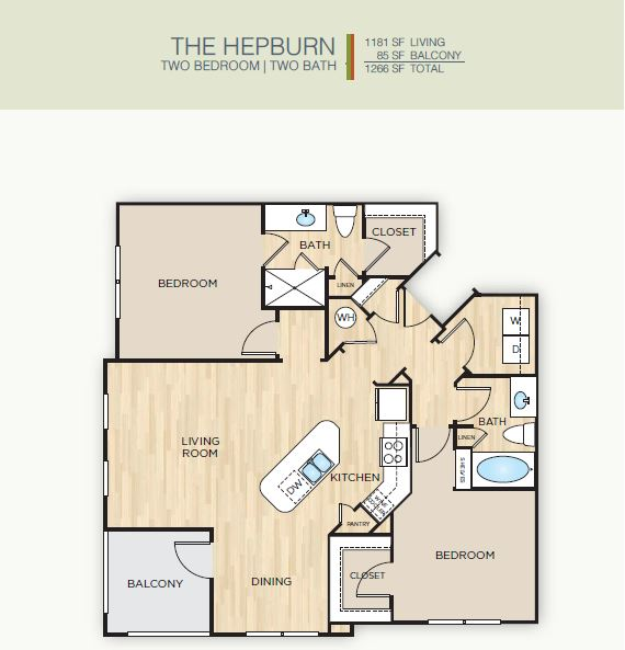2 Bedrooms 2 Bathrooms Apartment for rent at The Mark Huebner Oaks in San Antonio, TX