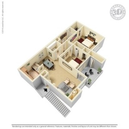 2 Bedrooms 1 Bathroom Apartment for rent at Argosy At Crestview in Austin, TX