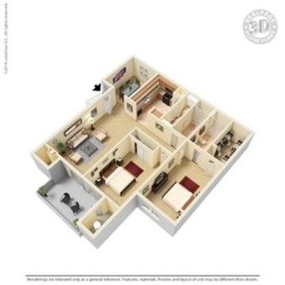 2 Bedrooms 2 Bathrooms Apartment for rent at Argosy At Crestview in Austin, TX