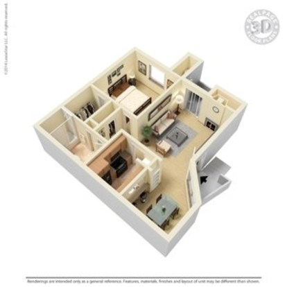 1 Bedroom 1 Bathroom Apartment for rent at Argosy At Crestview in Austin, TX