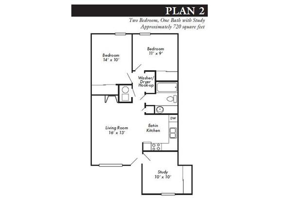 2 Bedrooms 1 Bathroom Apartment for rent at Stonecrest in Lawrence, KS