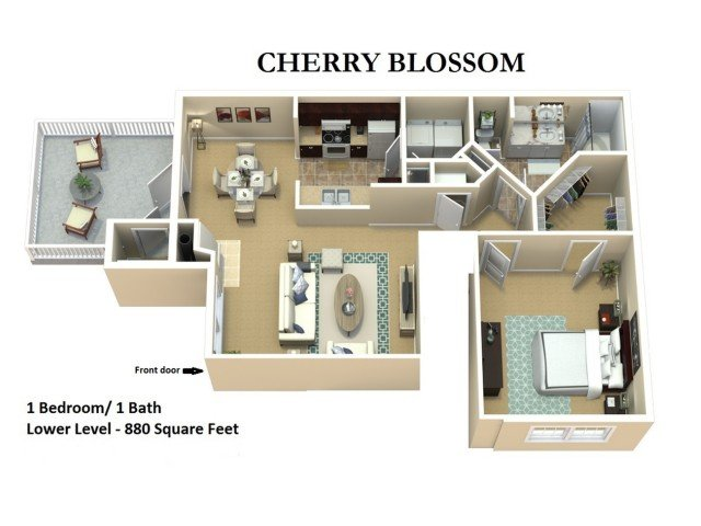 1 Bedroom 1 Bathroom Apartment for rent at The Woods Of Cherry Creek in Overland Park, KS