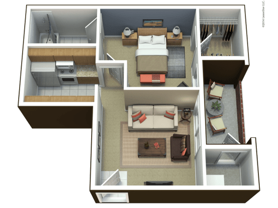 1 Bedroom 1 Bathroom Apartment for rent at Westchester Park in Manhattan, KS