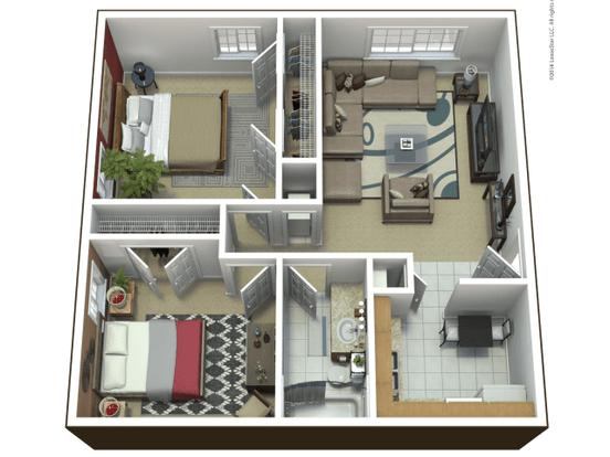 2 Bedrooms 1 Bathroom Apartment for rent at Westchester Park in Manhattan, KS
