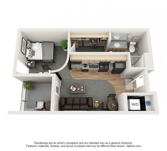 1 Bedroom 1 Bathroom Apartment for rent at Village Promenade in Muncie, IN