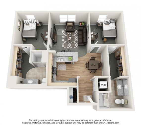 2 Bedrooms 2 Bathrooms Apartment for rent at Village Promenade in Muncie, IN