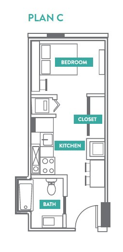 Studio 1 Bathroom Apartment for rent at Evo Philly At Cira Centre South in Philadelphia, PA
