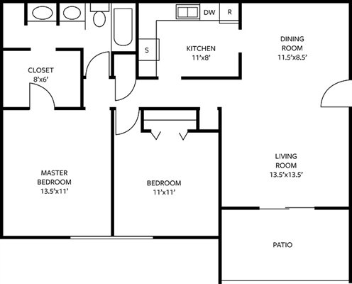 2 Bedrooms 1 Bathroom Apartment for rent at The Links Apartments in Chattanooga, TN