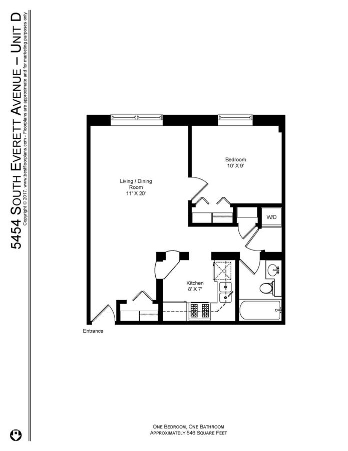 1 Bedroom 1 Bathroom Apartment for rent at Everett Hyde Park in Chicago, IL