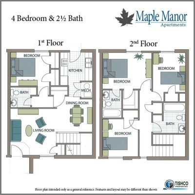 4 Bedrooms 3 Bathrooms Apartment for rent at Maple Manor in Fayetteville, AR