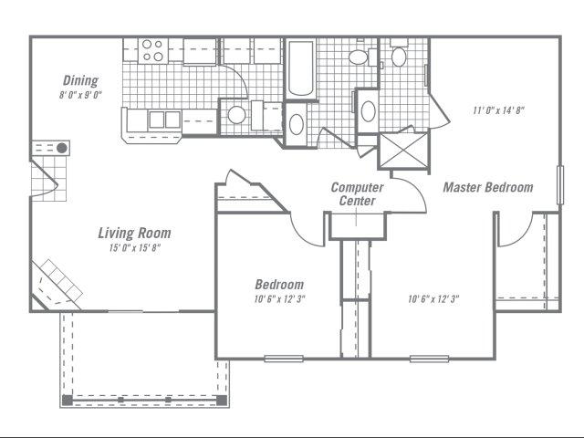 2 Bedrooms 2 Bathrooms Apartment for rent at Ventana Hills in Coraopolis, PA