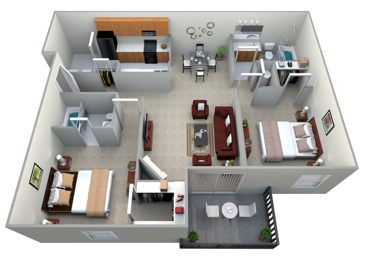 2 Bedrooms 2 Bathrooms Apartment for rent at Woodspring in Florence, KY