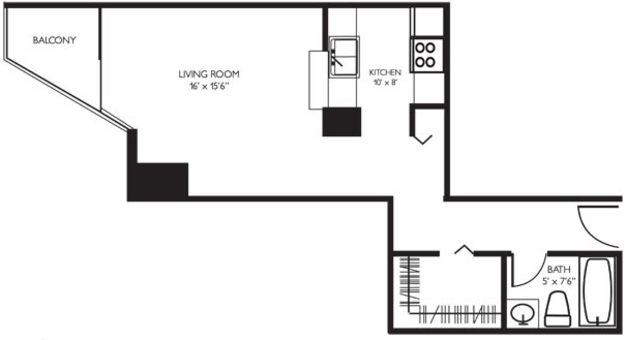 Studio 1 Bathroom Apartment for rent at 1133 N. Dearborn in Chicago, IL
