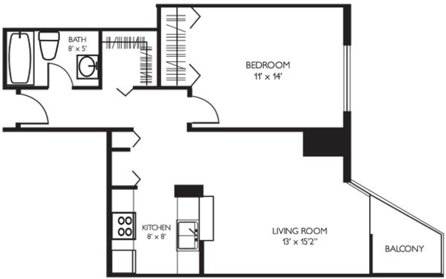 1 Bedroom 1 Bathroom Apartment for rent at 1133 N. Dearborn in Chicago, IL